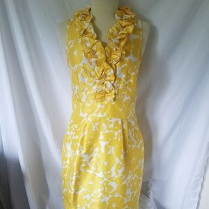 The Limited Women's Dress Size 6 Sheath Yellow